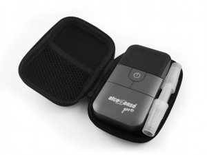 AlcoSense Pro and Ultra Carry Case, 2 mouthpieces fit next to the AlcoSense unit.